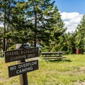 Hiker/biker camping area.- Tower Fall Campground