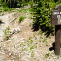 The trailhead is across the street from the parking and is well marked.- Avalanche Peak