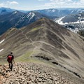 The Avalanche Peak ridge provides the opportunity to return via an alternate trail.- Avalanche Peak