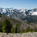 Avalanche Peak provides outstanding views of the highest peaks of Yellowstone National Park.- Avalanche Peak