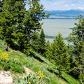 The Jackson Hole Valley is within view for many of the switchbacks.- Surprise + Amphitheater Lakes