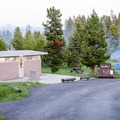 The facilities are clean, but there are no showers on-site.- Bridge Bay Campground