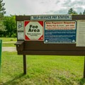 Informational signage at the trailhead.- Zealand Campground and Picnic Area