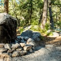 Please use designated fire rings.- General Hitchcock Campground