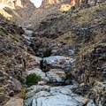 Seven Falls during the dry season.- Bear Canyon to Seven Falls Trail