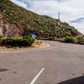 Few parking spaces are available.- Inspiration Point + Theodore Roosevelt Dam
