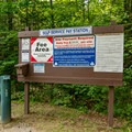 A fee station.- Sugarloaf 1 Campground