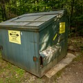 The provided refuse containers.- Sugarloaf 1 Campground