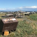 Wildlife-proof trash receptacles throughout the park.- San Juan Island National Historical Park