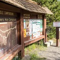Checking in at Baker's Hole Campground.- Baker's Hole Campground