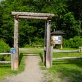 The trailhead with an information kiosk.- High Falls Conservation Area