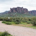 The view of Flatiron Peak.- Lost Dutchman State Park