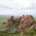 A view down into the valley.- Lost Dutchman State Park