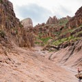 Siphon Draw, a beautiful hike on slick rock toward Flatiron Trail.- Lost Dutchman State Park