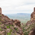 Heading up the strenuous Flat Iron Trail.- Lost Dutchman State Park