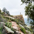 Nearing the summit of Flatiron Peak.- Lost Dutchman State Park