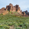 A last look at Flatiron Peak.- Lost Dutchman State Park