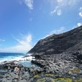 The remote coastline is rugged and offers no shade.- Makapu'u Tide Pools