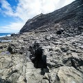 The Dragon's Nostrils openings spew wave spray every so often.- Makapu'u Tide Pools