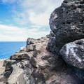 Follow the painted arrows to stay on the easiest trail.- Makapu'u Tide Pools