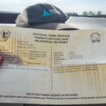 Wilderness Permit from Toulumne Meadows.- Upper Merced River: Headwaters to Little Yosemite Valley