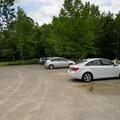 A large parking lot next to the trailhead allows easy access.- High Falls Conservation Area