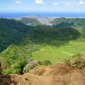 The ridge trail is unstable and steep, with ropes in sketchy sections.- Ka'au Crater Hike