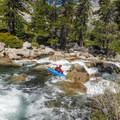 A boulder garden above Echo Gorge.- Upper Merced River: Headwaters to Little Yosemite Valley