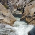 The rapid known as Fear on the Upper Merced River.- Upper Merced River: Headwaters to Little Yosemite Valley