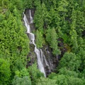 A closer look at the falls.- Beer Walls in Chapel Pond Canyon