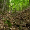 The trail is steep in the beginning sections, but it levels out in a short time.- Beer Walls in Chapel Pond Canyon
