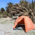 Campsite at Little Harbor.- Trans-Catalina Trail