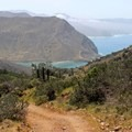 Cat Harbor seen from the Trans-Catalina Trail.- Trans-Catalina Trail