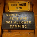 Signage at the Lafayette Place Lodge.- Lafayette Place Campground