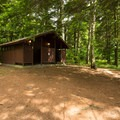 Bathrooms are spaced evenly throughout the campground.- Fish Creek Pond Campground
