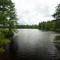 A view of the pond.- Fish Creek Pond Campground