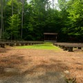 The amphitheater. - Fish Creek Pond Campground