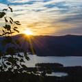 Sunrise over Lake George.- The Pinnacle