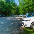 A large parking area.- Mount Carrigain via Signal Ridge