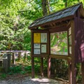 The trail starts across the dirt road from the kiosk and parking.- Mount Carrigain via Signal Ridge