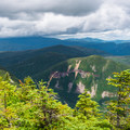 The first views on the ridge.- Mount Carrigain via Signal Ridge