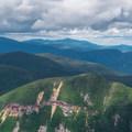 Mount Lowell's cliffs.- Mount Carrigain via Signal Ridge