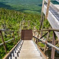 Observation tower stairs.- Mount Carrigain via Signal Ridge