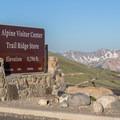 The Alpine Visitor Center.- Trail Ridge Road