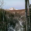 Looking northeast from the trail.- Thunderbird Falls