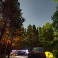 A campsite at night.- Sugarloaf 2 Campground