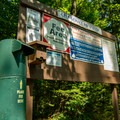 Fee and information kiosk at the entry to the campground.- Sugarloaf 2 Campground
