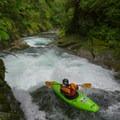 Sliding auto-boof.- Upper Yellowjacket Creek