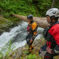 Weighing the pros and cons of running it versus the throw-and-go.- Upper Yellowjacket Creek