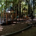 Old Mill Park Playground.- Mill Valley's Old Mill Park and the Dipsea Steps
